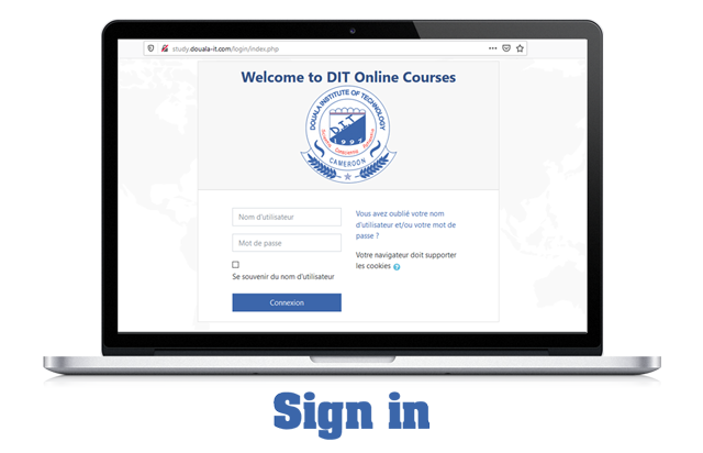 Sign in on DIT Online Courses